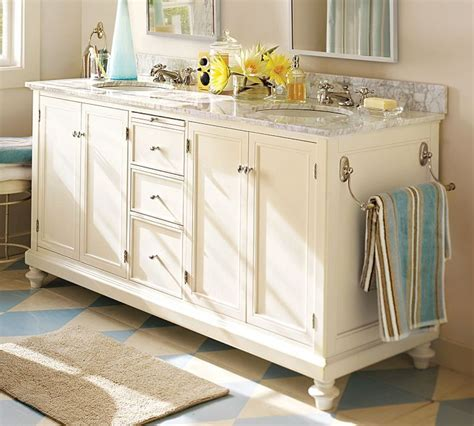 pottery barn bathroom cabinet pottery barn style bathroom double vanities