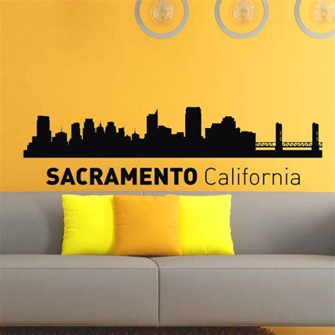 home decor sacramento sacramento california skyline city silhouette wall vinyl