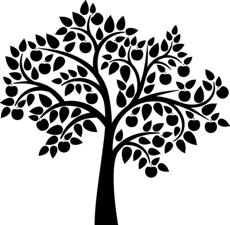 free clipart silhouette tree silhouette clipart clipground