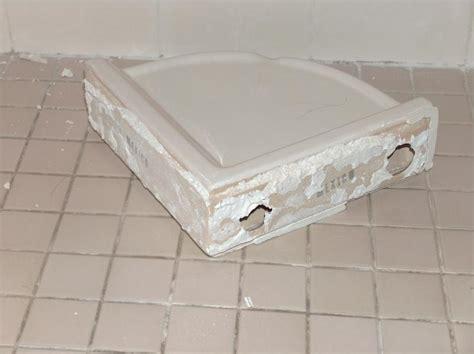 Ceramic Corner Shelf For Shower by Shower Corner Shelf Repair Ceramic Tile Advice Forums