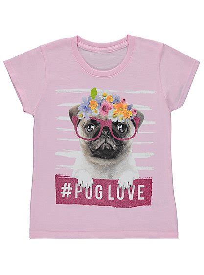 toddler pug shirt floral pug t shirt george at asda