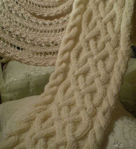 celtic cable knit scarf pattern fisherman s wool celtic knot cable knit scarf