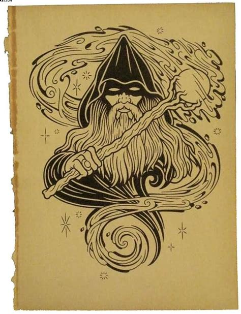 tribal wizard tattoos 17 wizard tattoos designs