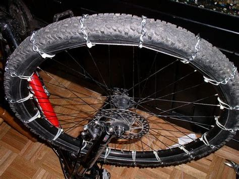 cadenas bici btt cadenas de nieve para ruedas de bici proyectos bici
