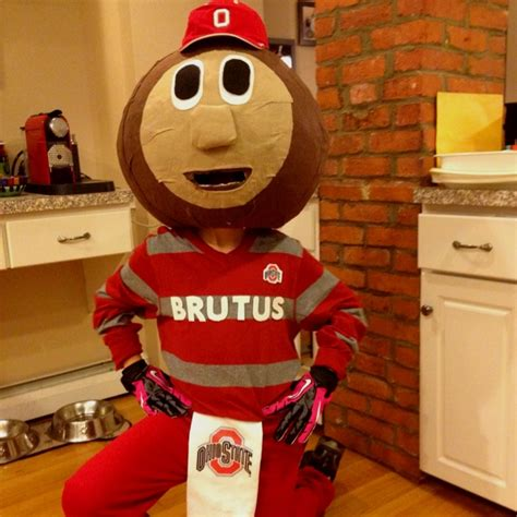 How To Make A Mascot From Paper Mache - brutus buckeye mascot costume paper m 226 ch 233 covered