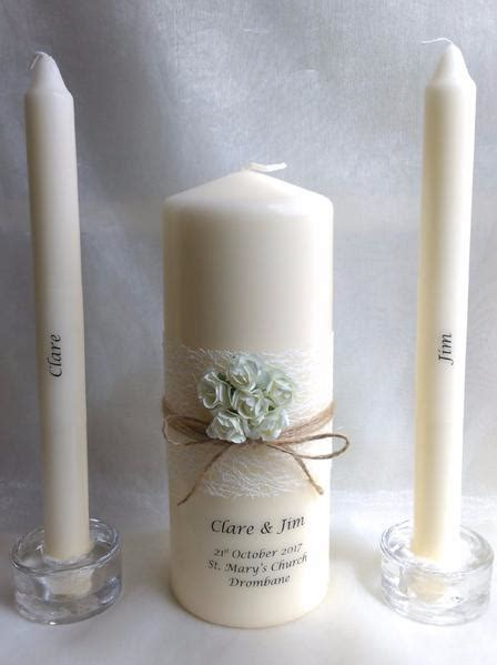 personalised candles wedding candles unity candle for your ceremony wedding candles ireland