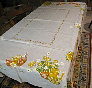 Vintage Kitchen Tablecloths by Vintage Linen Kitchen Tablecloth Tablecloths Linens At