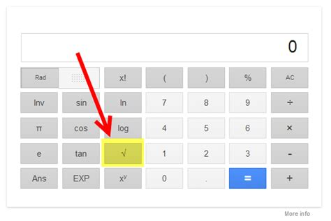 calculator root how to find square root with google calculator