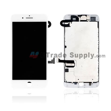 apple iphone 7 plus lcd screen and digitizer assembly with frame and small parts without home