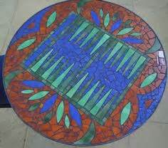 pattern play mosaic mosaics game tables and chess on pinterest