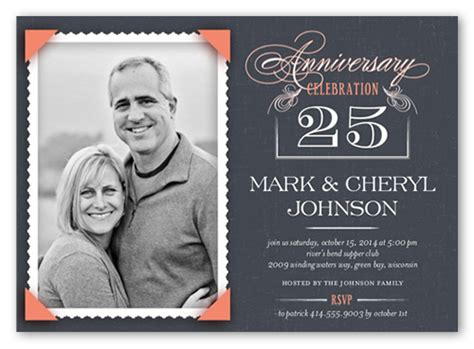 25th wedding anniversary invitations ideas how to plan an anniversary step by step shutterfly