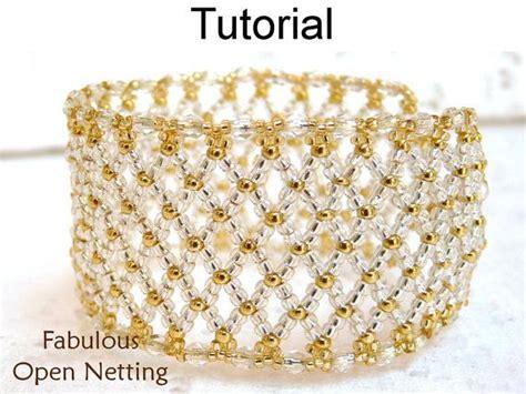 net stitch beading beading pattern netting stitch bracelet seed bead