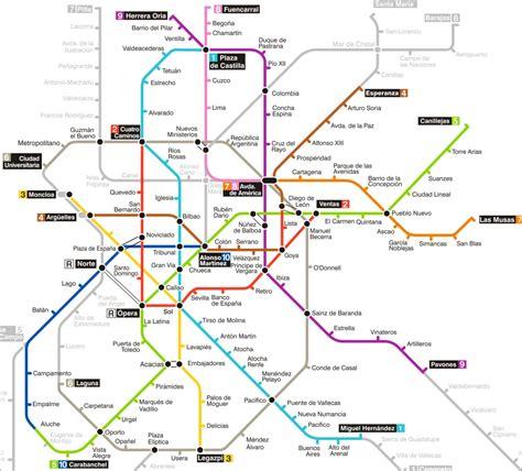 plano metro de madrid madrid mapa metro