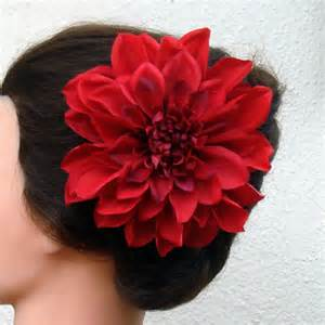 flower accessories flower clip dahlia x large 6 inch alligator hair clip bridal hair accessory fashion