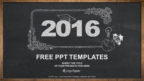 2016 Concept On Blackboard Powerpoint Templates Chalkboard Powerpoint Template