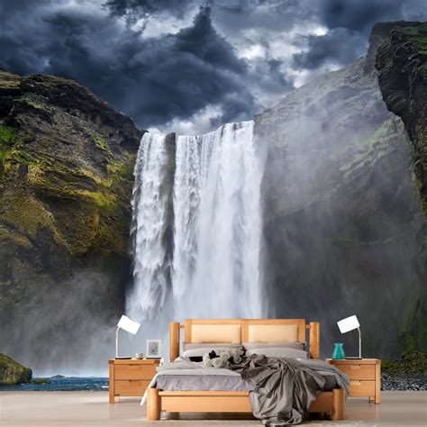removable wall murals high quality modern desgin waterfall photo large 3d