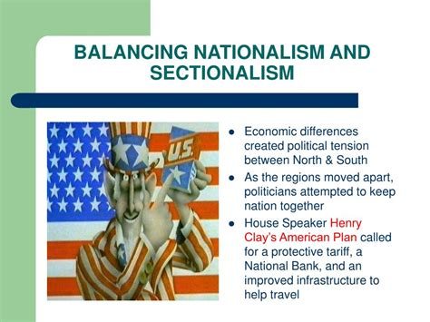 balancing nationalism and sectionalism ppt chapter 3 the growth of a young nation powerpoint