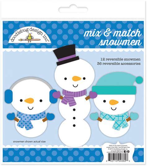 doodlebug frosty friends doodlebug design frosty friends mix and match snowmen