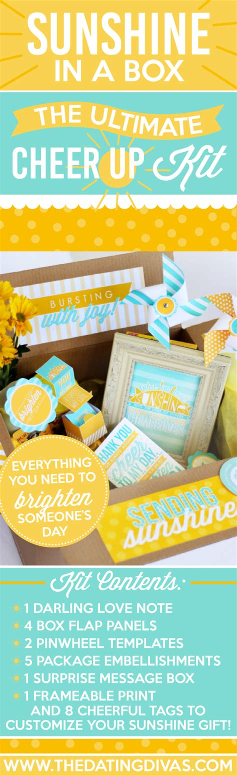 cheer up care package kit the dating divas