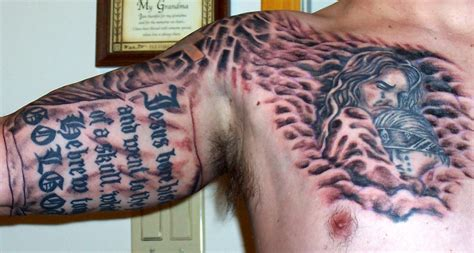 christian chest tattoos christian tattoos3d tattoos