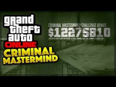 mastermind challenge gta the criminal mastermind challenge completed