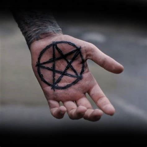 pentagram tattoos 100 palm designs for inner ink ideas