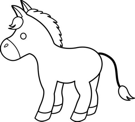donkey head coloring page donkey clipart cliparts co