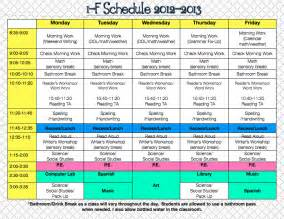 classroom schedule template daily schedules classroom schedule and yearly on