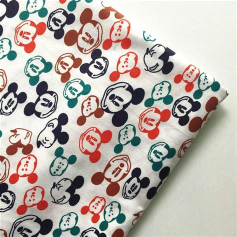 good 1pc 160 50cm cotton jersey fabric 100 organic cotton new 160 50cm colorful mickey printed 100 cotton fabric