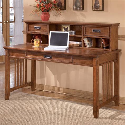 ashley furniture cross island mission large leg desk and