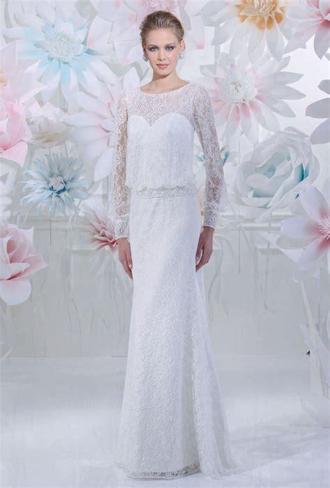 Hochzeitskleid Langarm Schlicht by Brautkleid Schmal Langarm Gerrys Brautmoden Und