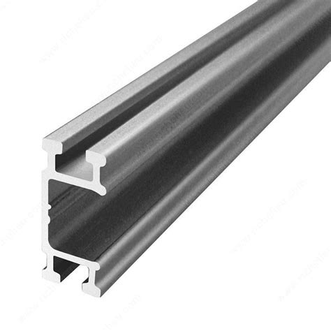Aluminum Sliding Cabinet Door Track Single Aluminum Running Track Type Fcx Mount To Cabinet Richelieu Hardware
