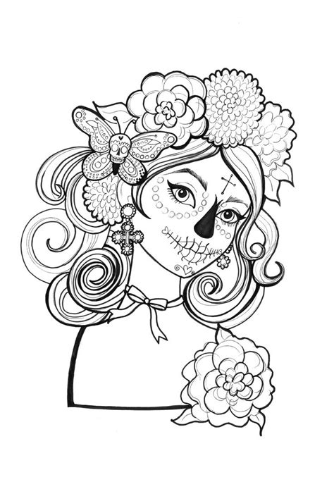 day of the dead catrina coloring pages catrinas para colorear 19 catrinas10
