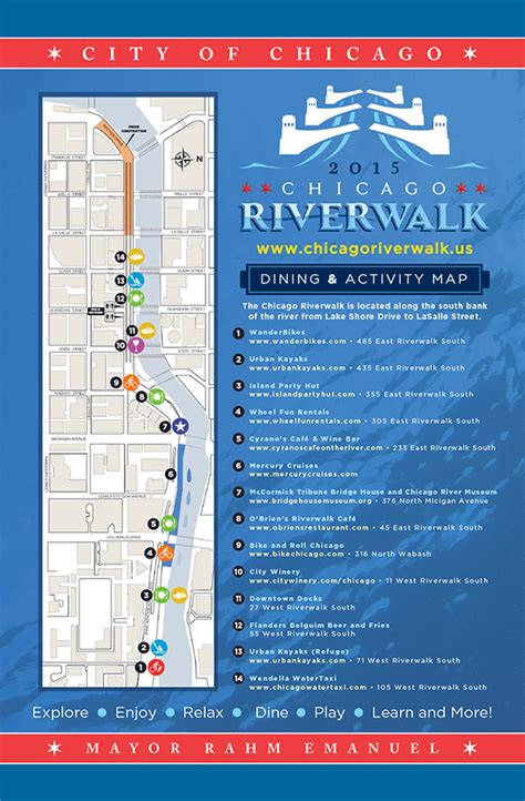 chicago riverwalk map a complete guide to the chicago riverwalk chicago genie