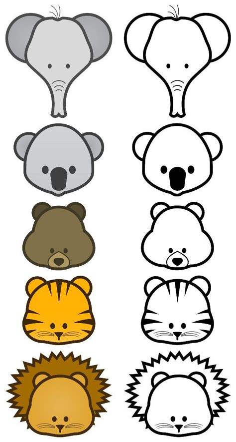 animal puppet templates crafts