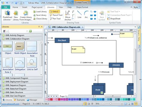 software to draw uml diagrams uml collaboration diagrams free exles and software