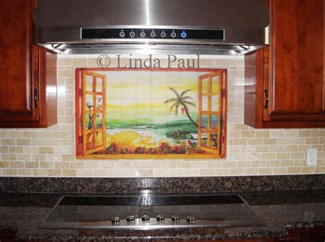 Florida Tile Mural Backsplash Tiles   Palm Tree Art Tiles