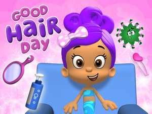 bubble guppies haircut game guppies good hair day game preschool dress up game