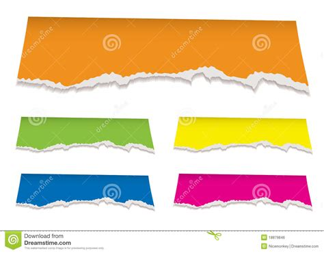design header paper florescent torn paper header royalty free stock image