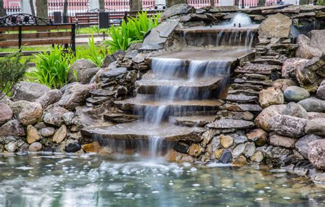 how to build a pool waterfall how to build a beautiful waterfall pond without much