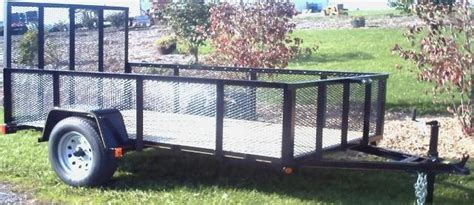 5 x 10 utility trailer with wire mesh sides