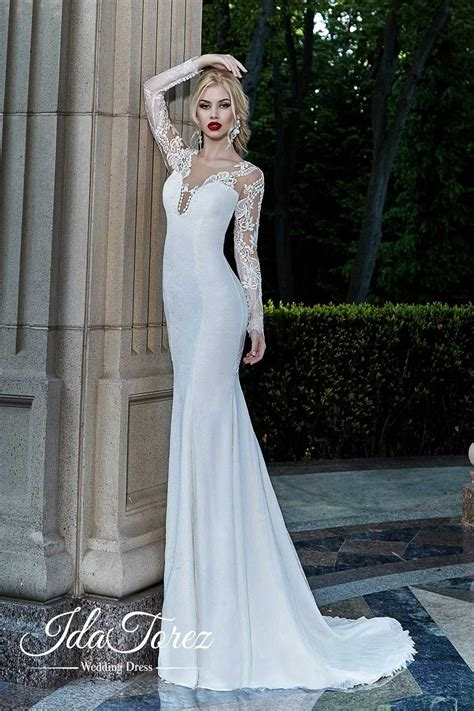 Trumpet Mermaid Court Stretch Satin Wedding Dress 01001