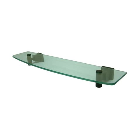 Lowes Glass Shelf by Shop Elements Of Design Claremont Rubbed Bronze And