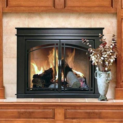 fireplace glass doors insert fireplace decorating ideas
