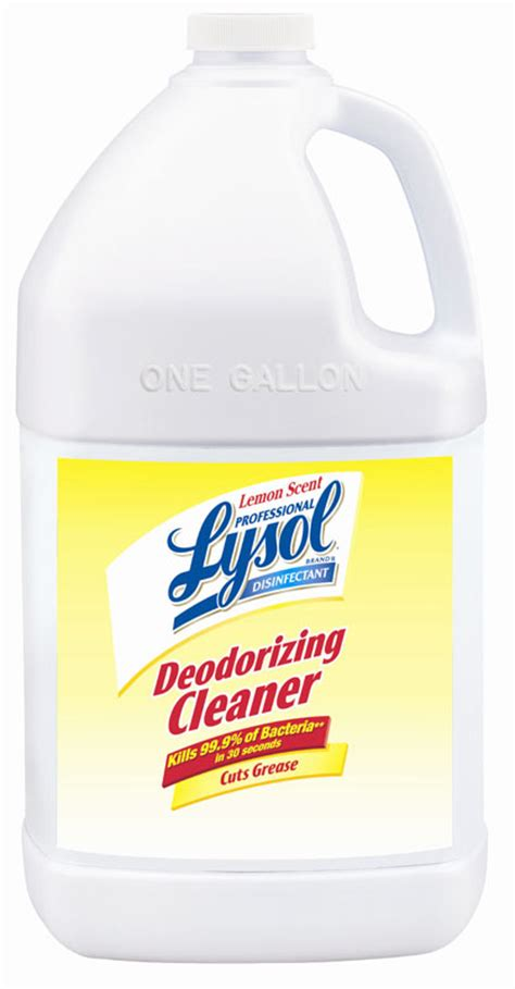 amazoncom lysol professional disinfectant deodorizing cleaner lemon scent  ounce pack