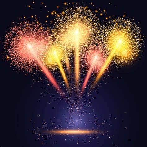 clipart fuochi d artificio celebrazione di sfondo con fuochi d artificio colorati