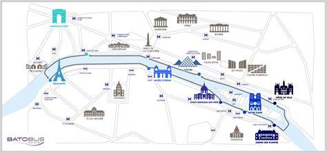 Plan bateau touristique Paris   Carte bateau touristique