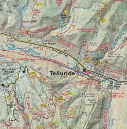 telluride silverton ouray trails colorado topo map