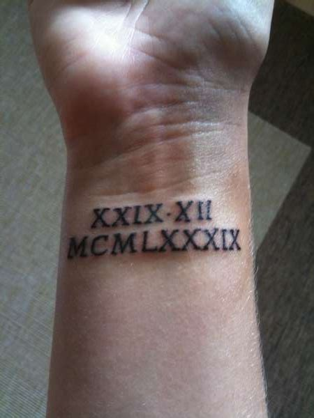 tribal roman numerals tattoos numerals