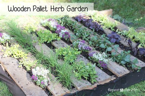 herb garden repeat crafter me wooden pallet herb garden